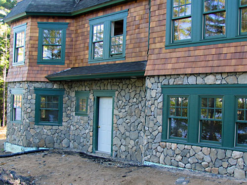 Meyer masonry mason contractors in new hampshire for Stone facade house